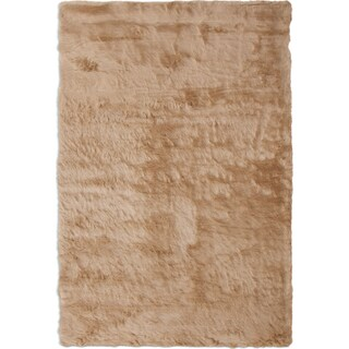 Faux  Mink Fur 8' x 10' Area Rug - Tan