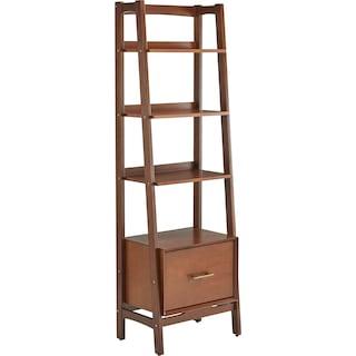 Mitch Small Bookcase - Dark Wood