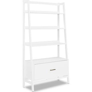Mitch Large Bookcase - White