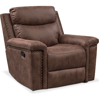 Montana Manual Recliner - Brown