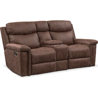 Montana Manual Reclining Loveseat - Brown