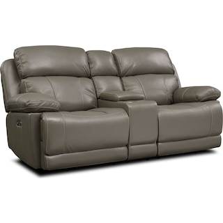 Monte Carlo Dual-Power Reclining Loveseat - Gray