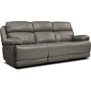 Monte Carlo Dual-Power Reclining Sofa - Gray