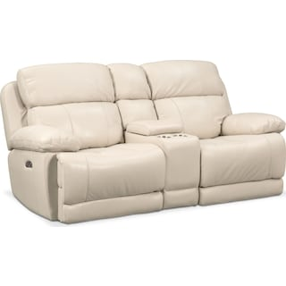 Monte Carlo Dual-Power Reclining Loveseat - Cream