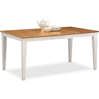 Nantucket Table - Maple and White