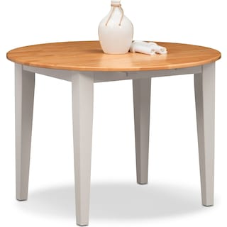 Nantucket Drop-Leaf Table - Maple and White