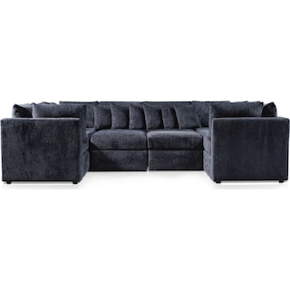 Nest 5-Piece Pit Sectional - Charcoal