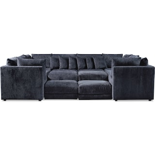 Nest 9-Piece Sectional - Charcoal