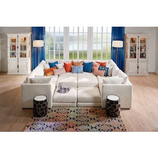Nest 7-Piece Pit Sectional - Ivory
