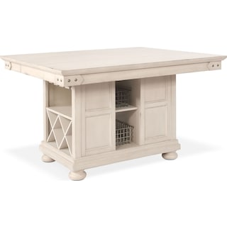 New Haven Kitchen Island - White