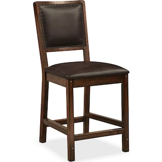 Newcastle Counter-Height Dining Chair - Mahogany