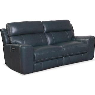 Newport 2-Piece Dual-Power Reclining Sofa - Blue