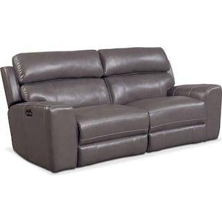 Newport 2-Piece Dual-Power Reclining Sofa - Gray