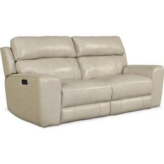 Newport 2-Piece Dual-Power Reclining Sofa - Cream