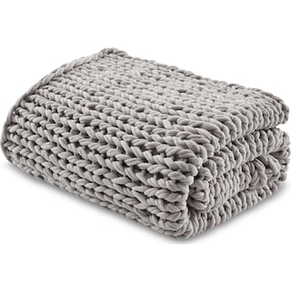Nora Knit Throw - Gray