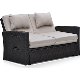 Northport Outdoor Convertible Loveseat - Brown