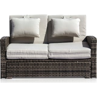 Northport Outdoor Convertible Loveseat - Gray