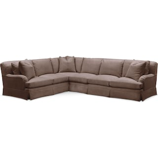 Campbell Comfort 2-Piece Large Sectional with Right-Facing Sofa - Oakley III Java