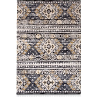 Palms Indoor/Outdoor 5' x 8' Area Rug - Blue Diamond