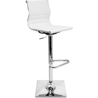 Pierce Adjustable Bar Stool - White