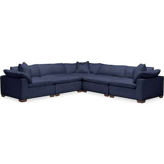 Plush 5-Piece Sectional - Oakley III Ink