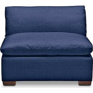 Plush Armless Chair - Abington TW Indigo