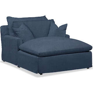 Plush Performance Chaise - Peyton Navy