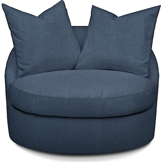 Plush Performance Swivel Chair - Peyton Navy