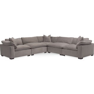 Plush 5-Piece Sectional - Gray