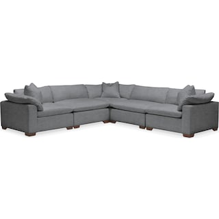 Plush 5-Piece Sectional - Depalma Charcoal