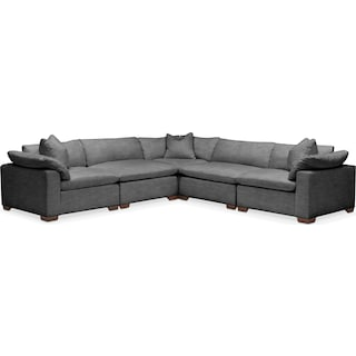 Plush 5-Piece Sectional - Curious Charcoal