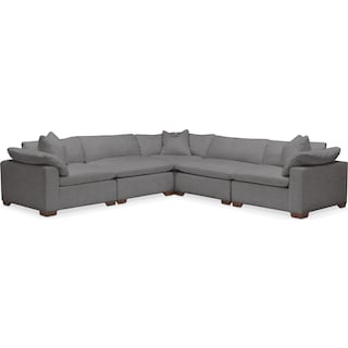 Plush 5-Piece Sectional - Hugo Graphite
