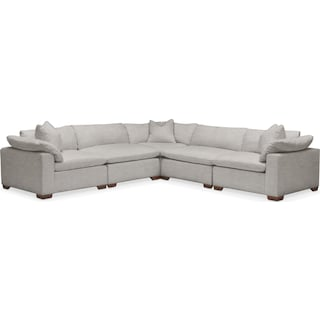 Plush 5-Piece Sectional - Dudley Gray