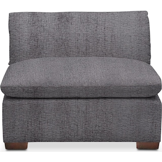 Plush Armless Chair - Living Large Charcoal