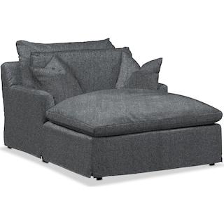 Plush Chaise - Flannel