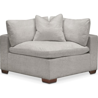 Plush Corner Chair - Dudley Gray