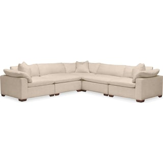 Plush 5-Piece Sectional - Dudley Buff