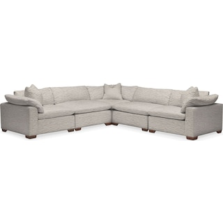 Plush 5-Piece Sectional - Living Large White