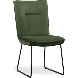 Portland Upholstered Dining Chair - Hunter Green