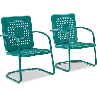Foster Set of 2 Outdoor Chairs - Turquoise