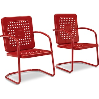Foster Set of 2 Outdoor Chairs - Red