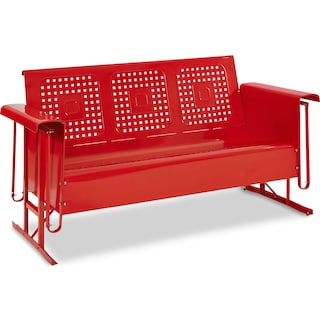 Foster Outdoor Sofa Glider - Red