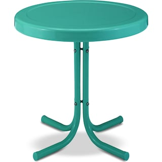 Retro Outdoor Side Table - Turquoise
