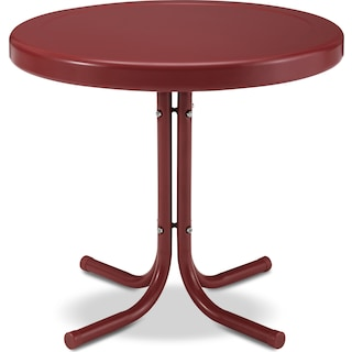 Retro Outdoor Side Table - Red