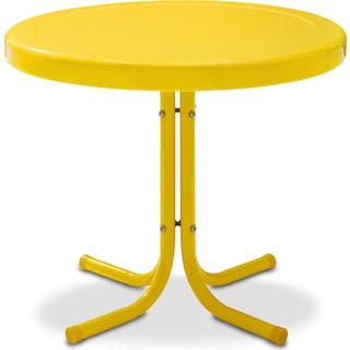 Retro Outdoor Side Table - Yellow