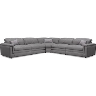 Revel 5-Piece Dual-Power Reclining Sectional with 3 Reclining Seats