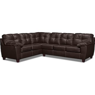 Ricardo 2-Piece Foam Sleeper Sectional with Left-Facing Sofa - Brown
