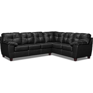 Ricardo 2-Piece Sectional with Right-Facing Sofa - Onyx