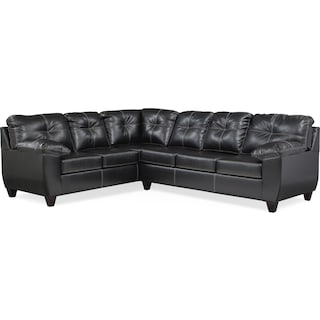 Ricardo 2-Piece Memory Foam Sleeper Sectional with Left-Facing Sofa - Onyx
