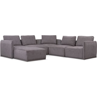 Rio 6-Piece Sectional with 3 Corner Chairs